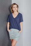 T-shirt Basic Dark Blue Melange